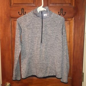 Under Armour athletic marbled gray quarter zip